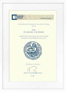 zertifikat promotion drheinlein