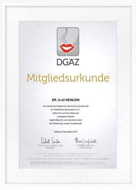 zertifikat zahnaesthetik drheinlein